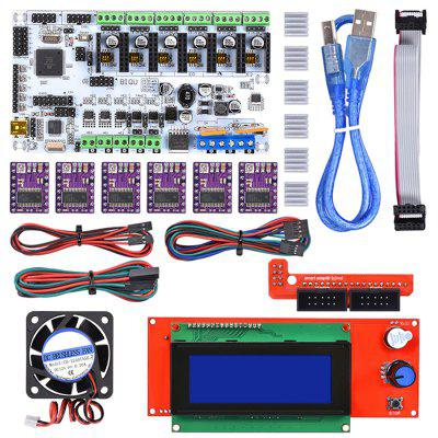 DIY Reprap Rumba Mainboard Kit + 2004 LCD Display DRV8825 Stepper Motor Driver Cooling Fan + Jumper Wire Rumba Control Board