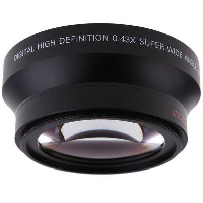 2672W Digital High Definition 72MM 0.43x Wide Angle Lens for Cannon Nikon Any DSLR Camera Lens with 72mm Filter Size