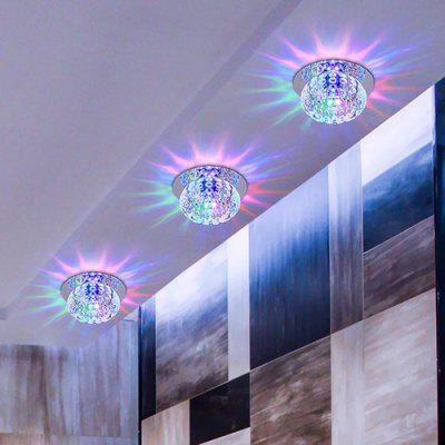 3W Round Crystal LED Ceiling Lamp for Aisle Corridor