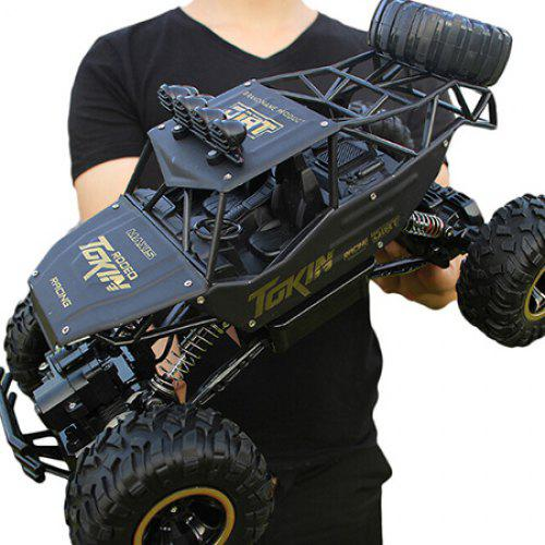 Gearbest 1/12 4WD Rock Crawler Double Motors Monster Truck Off-road Vehicle Toy - BLACK