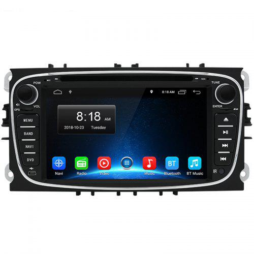 Gearbest Junsun FOCUS.H Android 8.1 Car Multimedia Player GPS 2 Din Car DVD for Ford Focus 2 / Kuga 2 / S - MAX / Mondeo 4 / C - MAX / Galaxy WiFi IPS Screen - BLACK 1PC