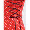Polka Dot Tube Top Dress Retro Big Swing Skirt - RED