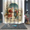 Print Waterproof Breathable Mildew Proof Shower Curtain - MULTI-B