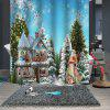 Christmas Print Pattern Waterproof Breathable  Bathroom Partition Shower Curtain - MULTI-A