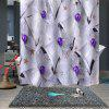 Christmas Pattern Print Breathable Waterproof Mildew Bathroom Partition Shower Curtain - MULTI-E