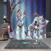 Christmas Waterproof Breathable Bathroom Partition Shower Curtain - MULTI-A
