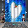 Christmas Pattern Waterproof Breathable Bathroom Partition Shower Curtain - MULTI-B