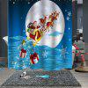 Christmas Print Pattern Waterproof Breathable Mildew Bathroom  Partition Shower Curtain - MULTI-B