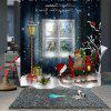 Bathroom Partition Christmas Print Pattern Waterproof Breathable Mildew Shower Curtain - MULTI-B