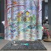 Bathroom Partition Pattern Waterproof Breathable Mildew Shower Curtain - MULTI-A