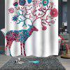 Pattern Waterproof Breathable Mildew Shower Curtain for Bathroom Partition - MULTI-B