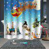 Christmas Print Pattern Waterproof Breathable Mildew Partition Shower Curtain - MULTI-B