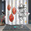 Christmas Print Pattern Waterproof Breathable Mildew Shower Curtain for Bathroom Partition - MULTI-A