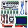 Rumba Motherboard +12864 LCD Controller Display + Jumper Wire + A4988 Stepper Motor Driver + 4015 fan For Reprap 3D Printer Parts - MULTI-A