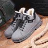 Cotton Warm And Velvet Winter Men's Shoes Thick - GRAY
