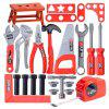 Children's Toolbox Set Baby Simulation Repair Tool Drill Screwdriver Pretend Play Toys - RED