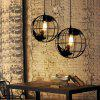 YWXLight Modern Creative Globe Style Pendant Light for Cafe Restaurant - BLACK