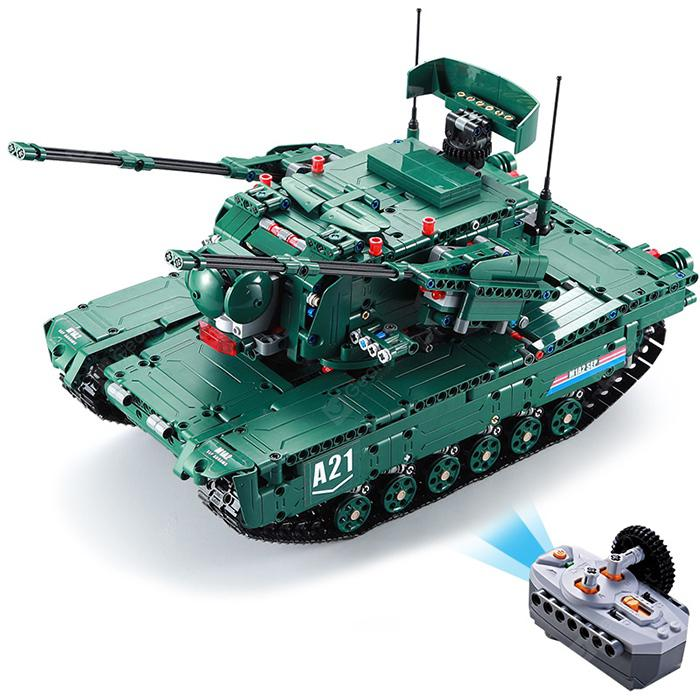 CaDA C61001W Military Series Building Assembled Tank Toys - Medium Forest Green