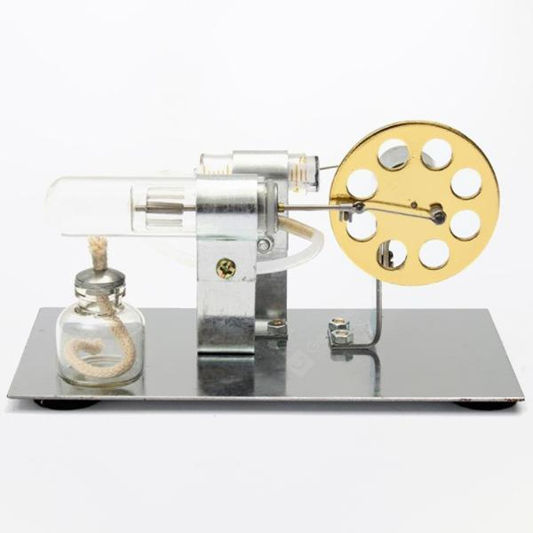 Mini DIY Stirling Engine Model - Gold Hot Air Stirling Engine