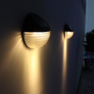 Luz de pared impermeable al aire libre solar de 6 LED LED