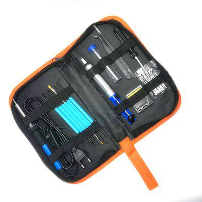 Electric Soldering Iron Welding Tool Kit Solder Wire Tweezer 19pcs