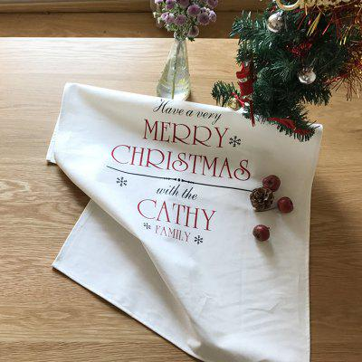 Christmas Cotton Napkins Oil-proof Anti-fouling Anti-dirty Tea Towel Cover Double-layer Placemat