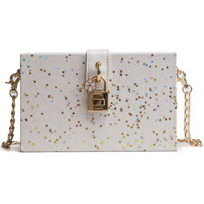 Fashionable Square Crossbody Bag with Lock Buckle