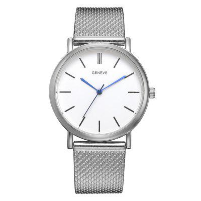 XR3110 Simple Casual Lady Personality Blue Pin Ultra-thin Strap Silicone Watch