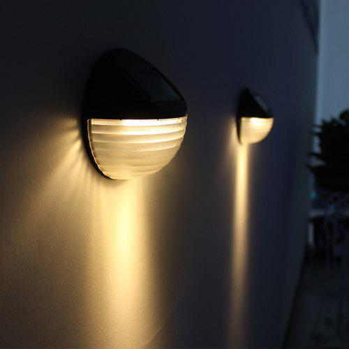 Outdoor Garden Solar Light Control Gutter Fence Yard 6 LED Wall Lamp Induction