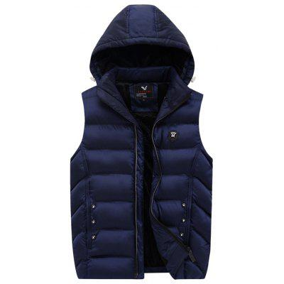 189 - A532 Winter Youth Men Casual Hooded Vest