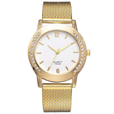 XR3111 Trendy Alloy with Gold Quartz Watch