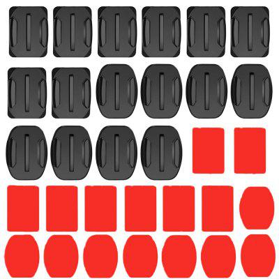 Sports Camera Accessories Flat Curved Surface Base Combination Set 32pcs