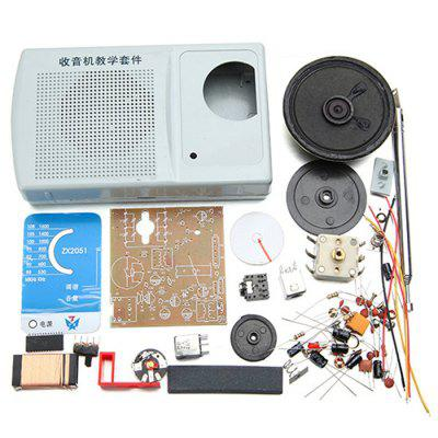 ZX2051 Kit de DIY Apprentissage Électronique ​​AM FM Radio de Type IC