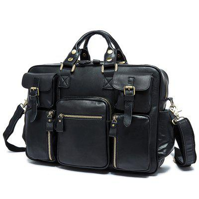 MVA 8812 Retro Crazy Horse Leather Luggage Travel Handbag