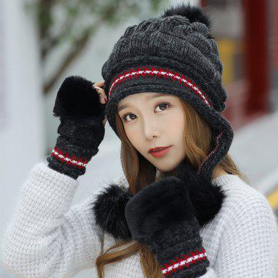 Fashion Sweet Cute Knitted Thick Warm Rabbit Hair Hat