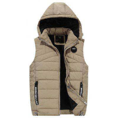 ed2d0c5a42b 1891 - A532 Winter Youth Men Cotton Casual Hooded Down Vest
