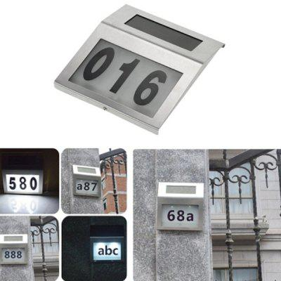 Solar House Number Lamp 2LED Wall-mounted Light