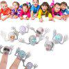 Ghost Head Zombie Witch Finger Set Tricky Interactive Toy - SZARY