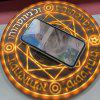 Glowing Magic Array Qi Wireless Fast Charger 5W 10W For iPhone SAMSUNG HUAWEI - BROWN