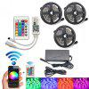 BRELONG 15m WiFi Smart Waterproof 450-LED Colorful Strip Light with Remote Control - BLACK