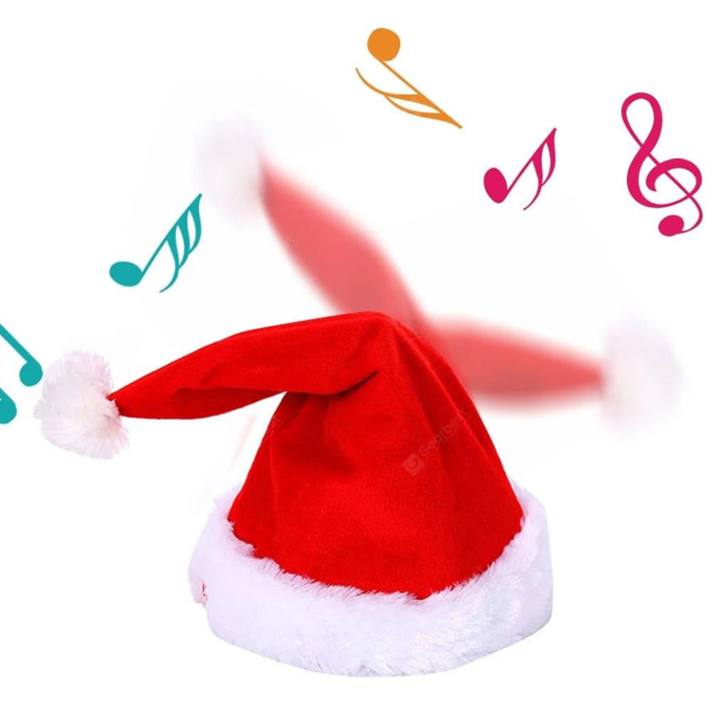 Novelty Creative Dance Music Christmas Hat Kids Gift - RED