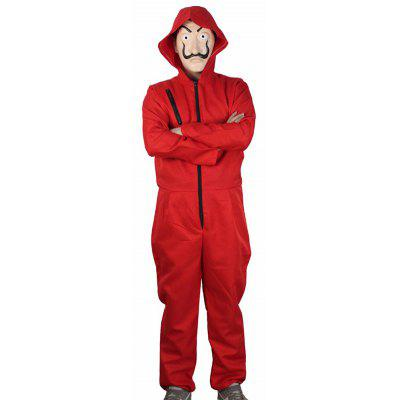 Red Jumpsuit Clown Suit for Cosplay