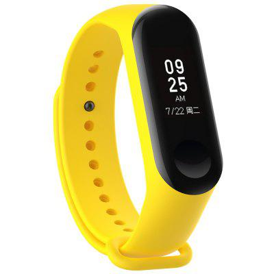 Silicone Smart Glossy Wristband for Xiaomi Miband 3