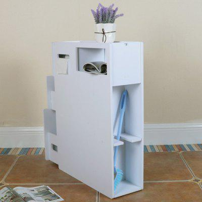 Toilet Side Storage Dust Rack Floor Angle Clip Narrow Low Cabinet