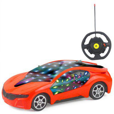 1: 20 Kierownica 3D Light RC Car Children  's Toys
