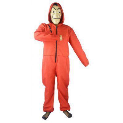 SYWT 0188 Cosplay Red Jumpsuit With Mask