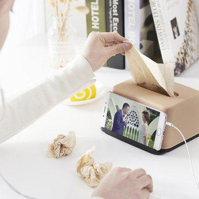 Multi-function Tissue Box with Phone Holder Function