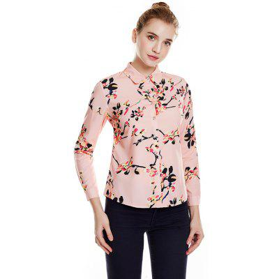 329 - A618 Autumn Women's Long Sleeve Print Bottoming Blouse