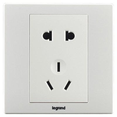 Legrand 10A Conjoined Two and Three Socket -  White