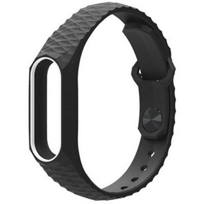 Diamond Pattern Anti-shedding Tweekleurenarmband voor Xiaomi Mi Band 2